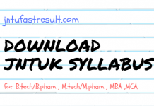 JNTUK SYLLABUS DOWNLOAD