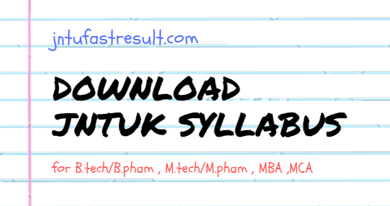 Jntuk M Tech R19 Syllabus Books 2020 Course Structure
