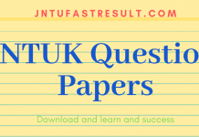 JNTUK Old Question Papers