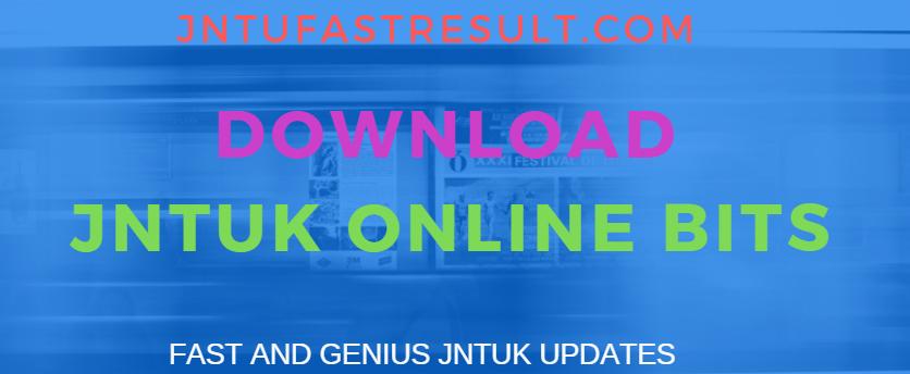 JNTUK B Tech 2-2 Sem 1st Mid Online Bits Download- Feb 2019