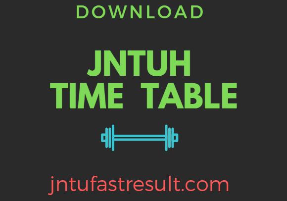 JNTUHExam TimeTables