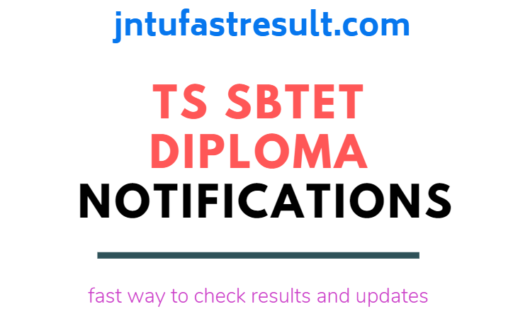 TS SBTET Diploma RV/RC/PC Notification: