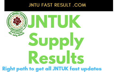 JNTUK B.Tech 4-1 Advanced Supply Results 2019