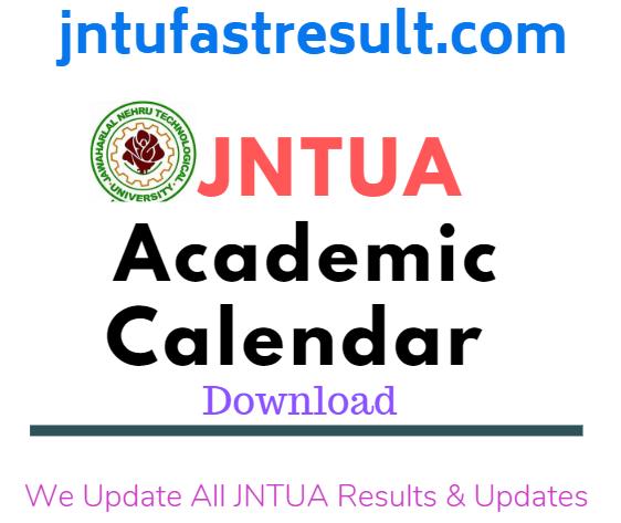 JNTUA B.PharmAcadamic Calenders 2019 -2020