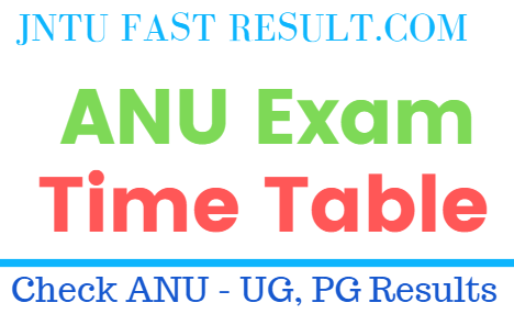 ANU Exam Timetables 2019