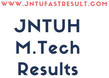 JNTUH M Tech I,II,III, IV Sem Regular/Supply Exams Results