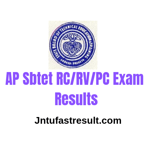 AP SBTET Instant Advance Supply RV/RC Results 2019