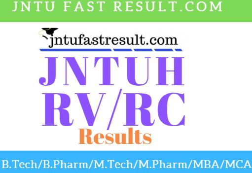 JNTUH B.Tech 4-2 SemRC/RV Results 2019