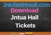 Download Jntua Hall tickets