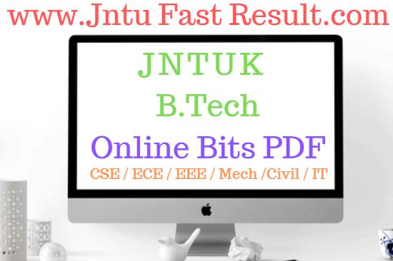 JNTUK B.Tech 4-1 Mid Online Bits 2019