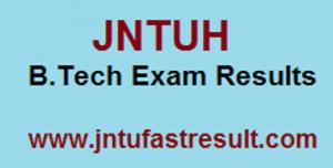 jntuh B.Tech Exam Resuults