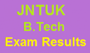 JNTUK b.tech Exam results