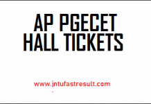 AP-PGECET-Hall Tickets